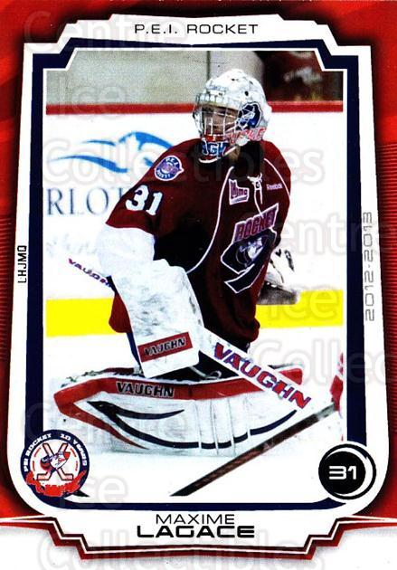 2012-13 Prince Edward Island Rocket #1 Maxime Lagace<br/>4 In Stock - $3.00 each - <a href=https://centericecollectibles.foxycart.com/cart?name=2012-13%20Prince%20Edward%20Island%20Rocket%20%231%20Maxime%20Lagace...&quantity_max=4&price=$3.00&code=575392 class=foxycart> Buy it now! </a>