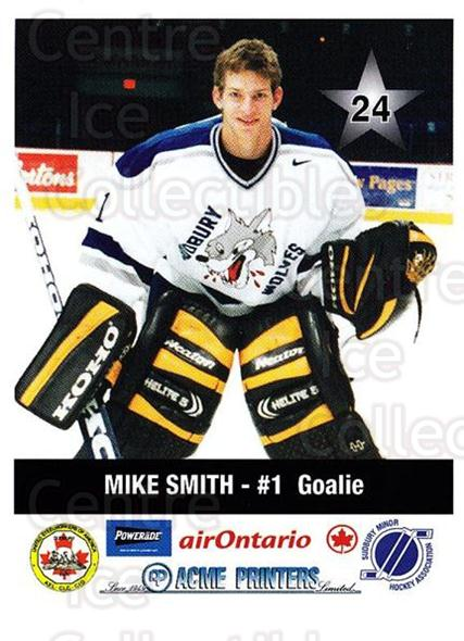 2000-01 Sudbury Wolves Police #24 Mike Smith<br/>3 In Stock - $5.00 each - <a href=https://centericecollectibles.foxycart.com/cart?name=2000-01%20Sudbury%20Wolves%20Police%20%2324%20Mike%20Smith...&quantity_max=3&price=$5.00&code=575522 class=foxycart> Buy it now! </a>