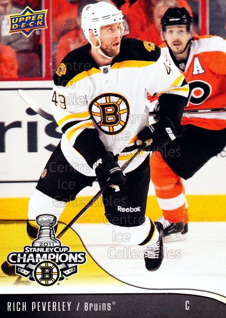 2010-11 Boston Bruins UD Stanley Cup Champions #12 Rich Peverley<br/>5 In Stock - $3.00 each - <a href=https://centericecollectibles.foxycart.com/cart?name=2010-11%20Boston%20Bruins%20UD%20Stanley%20Cup%20Champions%20%2312%20Rich%20Peverley...&price=$3.00&code=576343 class=foxycart> Buy it now! </a>