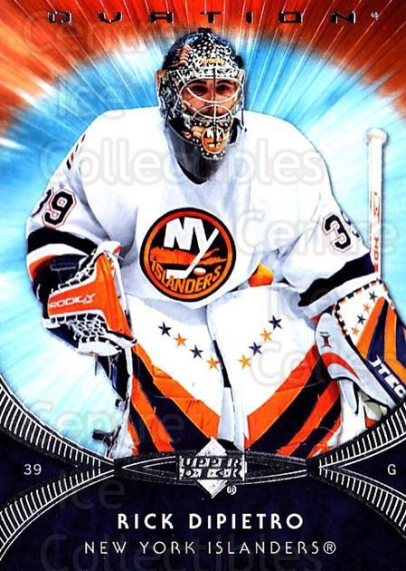 2007-08 UD Ovation #17 Rick DiPietro<br/>1 In Stock - $1.00 each - <a href=https://centericecollectibles.foxycart.com/cart?name=2007-08%20UD%20Ovation%20%2317%20Rick%20DiPietro...&quantity_max=1&price=$1.00&code=576381 class=foxycart> Buy it now! </a>