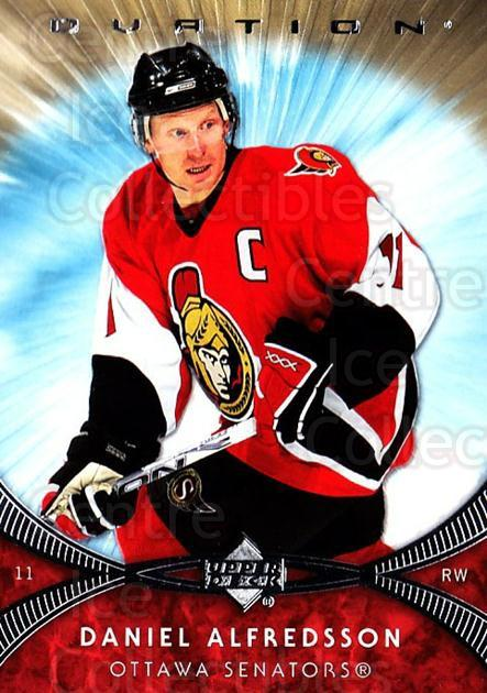 2007-08 UD Ovation #66 Daniel Alfredsson<br/>1 In Stock - $1.00 each - <a href=https://centericecollectibles.foxycart.com/cart?name=2007-08%20UD%20Ovation%20%2366%20Daniel%20Alfredss...&quantity_max=1&price=$1.00&code=576430 class=foxycart> Buy it now! </a>