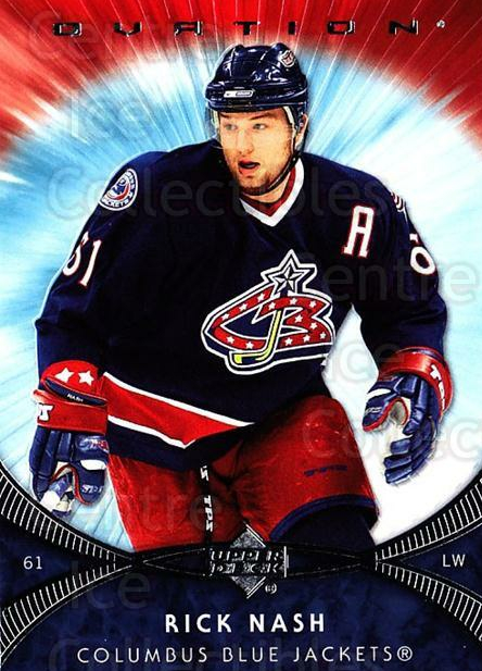 2007-08 UD Ovation #88 Rick Nash<br/>1 In Stock - $1.00 each - <a href=https://centericecollectibles.foxycart.com/cart?name=2007-08%20UD%20Ovation%20%2388%20Rick%20Nash...&quantity_max=1&price=$1.00&code=576452 class=foxycart> Buy it now! </a>