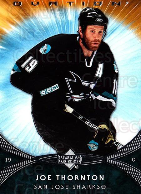 2007-08 UD Ovation #159 Joe Thornton<br/>1 In Stock - $1.00 each - <a href=https://centericecollectibles.foxycart.com/cart?name=2007-08%20UD%20Ovation%20%23159%20Joe%20Thornton...&quantity_max=1&price=$1.00&code=576523 class=foxycart> Buy it now! </a>
