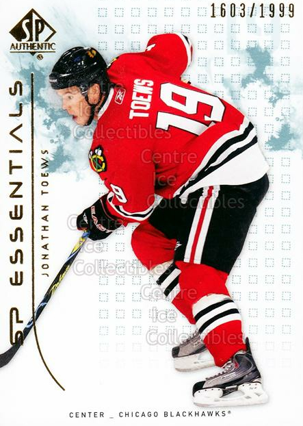 2009-10 SP Authentic #123 Jonathan Toews<br/>1 In Stock - $3.00 each - <a href=https://centericecollectibles.foxycart.com/cart?name=2009-10%20SP%20Authentic%20%23123%20Jonathan%20Toews...&quantity_max=1&price=$3.00&code=576587 class=foxycart> Buy it now! </a>