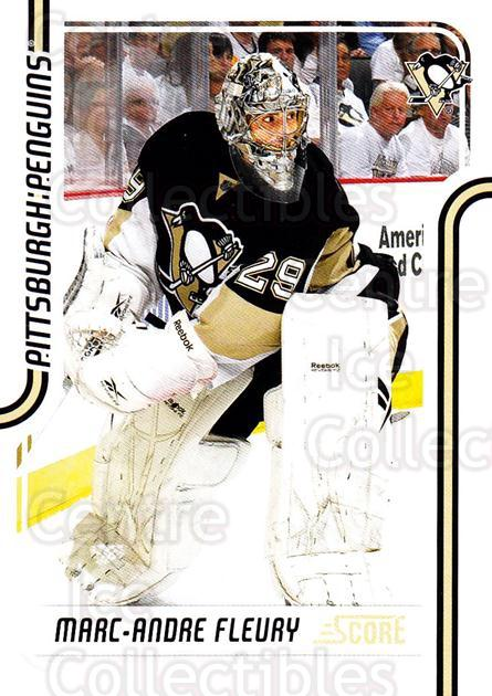 2011-12 Score Glossy #379 Marc-Andre Fleury<br/>2 In Stock - $2.00 each - <a href=https://centericecollectibles.foxycart.com/cart?name=2011-12%20Score%20Glossy%20%23379%20Marc-Andre%20Fleu...&quantity_max=2&price=$2.00&code=576758 class=foxycart> Buy it now! </a>