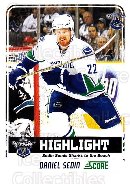 2011-12 Score Glossy #499 Daniel Sedin<br/>2 In Stock - $2.00 each - <a href=https://centericecollectibles.foxycart.com/cart?name=2011-12%20Score%20Glossy%20%23499%20Daniel%20Sedin...&quantity_max=2&price=$2.00&code=576878 class=foxycart> Buy it now! </a>