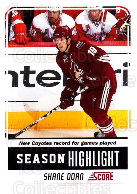 2011-12 Score Glossy #20 Shane Doan<br/>2 In Stock - $2.00 each - <a href=https://centericecollectibles.foxycart.com/cart?name=2011-12%20Score%20Glossy%20%2320%20Shane%20Doan...&quantity_max=2&price=$2.00&code=576919 class=foxycart> Buy it now! </a>
