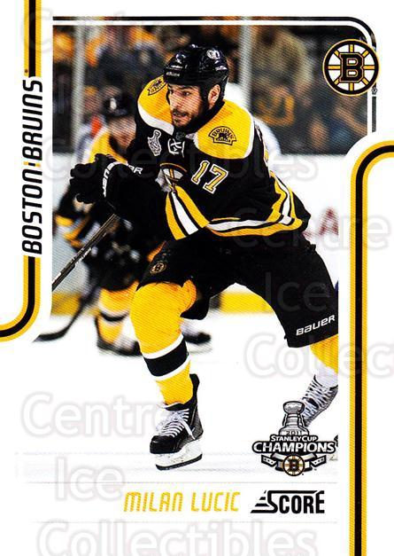 2011-12 Score Glossy #55 Milan Lucic<br/>2 In Stock - $2.00 each - <a href=https://centericecollectibles.foxycart.com/cart?name=2011-12%20Score%20Glossy%20%2355%20Milan%20Lucic...&quantity_max=2&price=$2.00&code=576954 class=foxycart> Buy it now! </a>