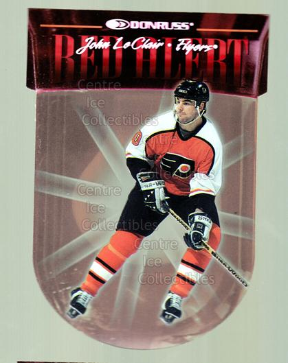 1997-98 Donruss Red Alert #7 John LeClair<br/>3 In Stock - $3.00 each - <a href=https://centericecollectibles.foxycart.com/cart?name=1997-98%20Donruss%20Red%20Alert%20%237%20John%20LeClair...&quantity_max=3&price=$3.00&code=57702 class=foxycart> Buy it now! </a>
