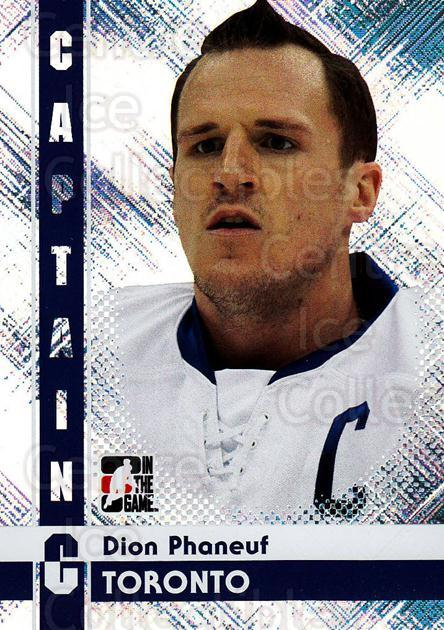 2011-12 ITG Captain C #36 Dion Phaneuf<br/>3 In Stock - $3.00 each - <a href=https://centericecollectibles.foxycart.com/cart?name=2011-12%20ITG%20Captain%20C%20%2336%20Dion%20Phaneuf...&price=$3.00&code=577818 class=foxycart> Buy it now! </a>
