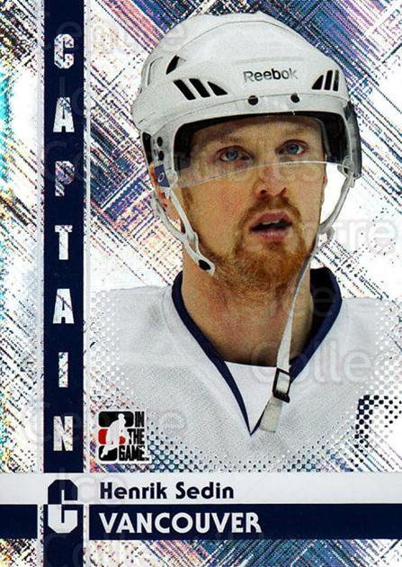 2011-12 ITG Captain C #38 Henrik Sedin<br/>4 In Stock - $3.00 each - <a href=https://centericecollectibles.foxycart.com/cart?name=2011-12%20ITG%20Captain%20C%20%2338%20Henrik%20Sedin...&quantity_max=4&price=$3.00&code=577820 class=foxycart> Buy it now! </a>