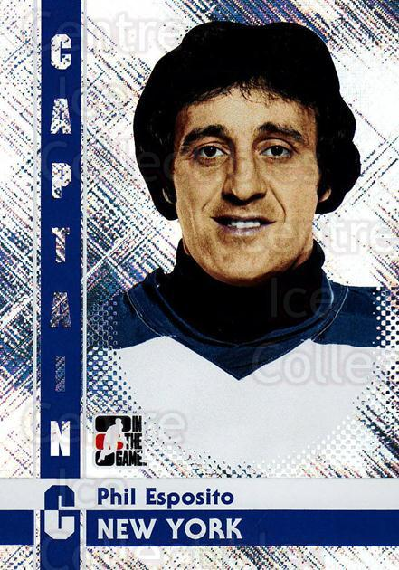 2011-12 ITG Captain C #63 Phil Esposito<br/>3 In Stock - $3.00 each - <a href=https://centericecollectibles.foxycart.com/cart?name=2011-12%20ITG%20Captain%20C%20%2363%20Phil%20Esposito...&quantity_max=3&price=$3.00&code=577845 class=foxycart> Buy it now! </a>