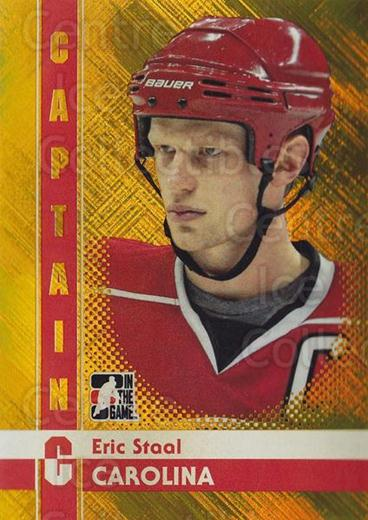 2011-12 ITG Captain C Gold #30 Eric Staal<br/>1 In Stock - $10.00 each - <a href=https://centericecollectibles.foxycart.com/cart?name=2011-12%20ITG%20Captain%20C%20Gold%20%2330%20Eric%20Staal...&quantity_max=1&price=$10.00&code=577912 class=foxycart> Buy it now! </a>
