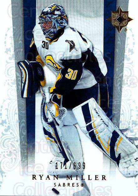 2006-07 UD Ultimate Collection #8 Ryan Miller<br/>1 In Stock - $5.00 each - <a href=https://centericecollectibles.foxycart.com/cart?name=2006-07%20UD%20Ultimate%20Collection%20%238%20Ryan%20Miller...&quantity_max=1&price=$5.00&code=578076 class=foxycart> Buy it now! </a>