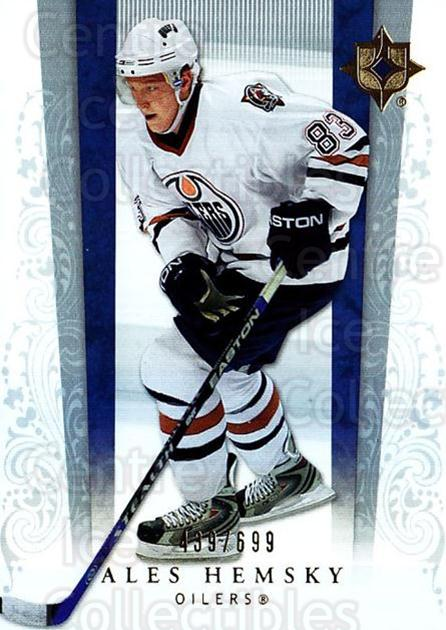 2006-07 UD Ultimate Collection #26 Ales Hemsky<br/>1 In Stock - $5.00 each - <a href=https://centericecollectibles.foxycart.com/cart?name=2006-07%20UD%20Ultimate%20Collection%20%2326%20Ales%20Hemsky...&quantity_max=1&price=$5.00&code=578094 class=foxycart> Buy it now! </a>