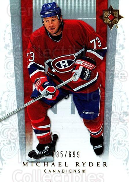 2006-07 UD Ultimate Collection #33 Michael Ryder<br/>3 In Stock - $3.00 each - <a href=https://centericecollectibles.foxycart.com/cart?name=2006-07%20UD%20Ultimate%20Collection%20%2333%20Michael%20Ryder...&quantity_max=3&price=$3.00&code=578101 class=foxycart> Buy it now! </a>