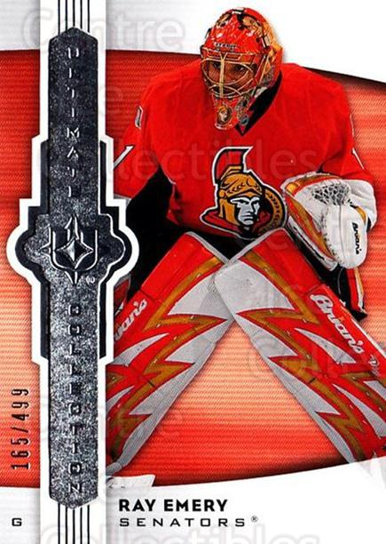 2007-08 UD Ultimate Collection #25 Ray Emery<br/>1 In Stock - $5.00 each - <a href=https://centericecollectibles.foxycart.com/cart?name=2007-08%20UD%20Ultimate%20Collection%20%2325%20Ray%20Emery...&quantity_max=1&price=$5.00&code=578225 class=foxycart> Buy it now! </a>