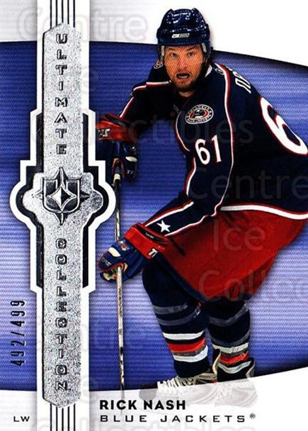 2007-08 UD Ultimate Collection #47 Rick Nash<br/>2 In Stock - $5.00 each - <a href=https://centericecollectibles.foxycart.com/cart?name=2007-08%20UD%20Ultimate%20Collection%20%2347%20Rick%20Nash...&quantity_max=2&price=$5.00&code=578247 class=foxycart> Buy it now! </a>