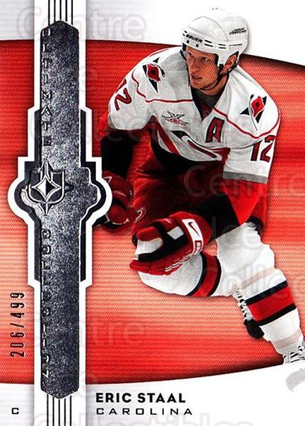 2007-08 UD Ultimate Collection #52 Eric Staal<br/>2 In Stock - $5.00 each - <a href=https://centericecollectibles.foxycart.com/cart?name=2007-08%20UD%20Ultimate%20Collection%20%2352%20Eric%20Staal...&quantity_max=2&price=$5.00&code=578252 class=foxycart> Buy it now! </a>