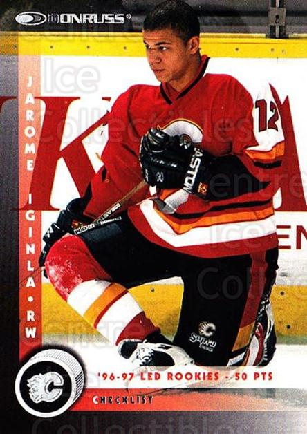 1997-98 Donruss #226 Jarome Iginla, Checklist<br/>4 In Stock - $1.00 each - <a href=https://centericecollectibles.foxycart.com/cart?name=1997-98%20Donruss%20%23226%20Jarome%20Iginla,%20...&quantity_max=4&price=$1.00&code=57829 class=foxycart> Buy it now! </a>