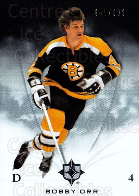 2010-11 UD Ultimate Collection #5 Bobby Orr<br/>1 In Stock - $10.00 each - <a href=https://centericecollectibles.foxycart.com/cart?name=2010-11%20UD%20Ultimate%20Collection%20%235%20Bobby%20Orr...&price=$10.00&code=578367 class=foxycart> Buy it now! </a>
