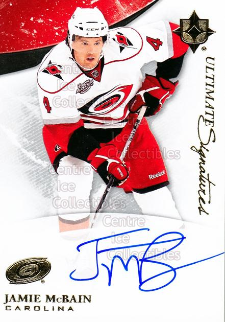 2010-11 UD Ultimate Collection Signatures #USJM Jamie McBain<br/>2 In Stock - $5.00 each - <a href=https://centericecollectibles.foxycart.com/cart?name=2010-11%20UD%20Ultimate%20Collection%20Signatures%20%23USJM%20Jamie%20McBain...&price=$5.00&code=578532 class=foxycart> Buy it now! </a>