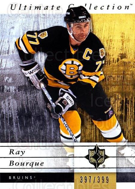 2011-12 UD Ultimate Collection #6 Ray Bourque<br/>2 In Stock - $5.00 each - <a href=https://centericecollectibles.foxycart.com/cart?name=2011-12%20UD%20Ultimate%20Collection%20%236%20Ray%20Bourque...&quantity_max=2&price=$5.00&code=578569 class=foxycart> Buy it now! </a>