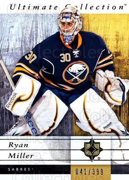 2011-12 UD Ultimate Collection #8 Ryan Miller<br/>1 In Stock - $5.00 each - <a href=https://centericecollectibles.foxycart.com/cart?name=2011-12%20UD%20Ultimate%20Collection%20%238%20Ryan%20Miller...&quantity_max=1&price=$5.00&code=578571 class=foxycart> Buy it now! </a>
