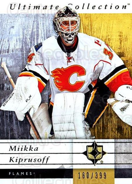 2011-12 UD Ultimate Collection #10 Miikka Kiprusoff<br/>2 In Stock - $5.00 each - <a href=https://centericecollectibles.foxycart.com/cart?name=2011-12%20UD%20Ultimate%20Collection%20%2310%20Miikka%20Kiprusof...&quantity_max=2&price=$5.00&code=578573 class=foxycart> Buy it now! </a>