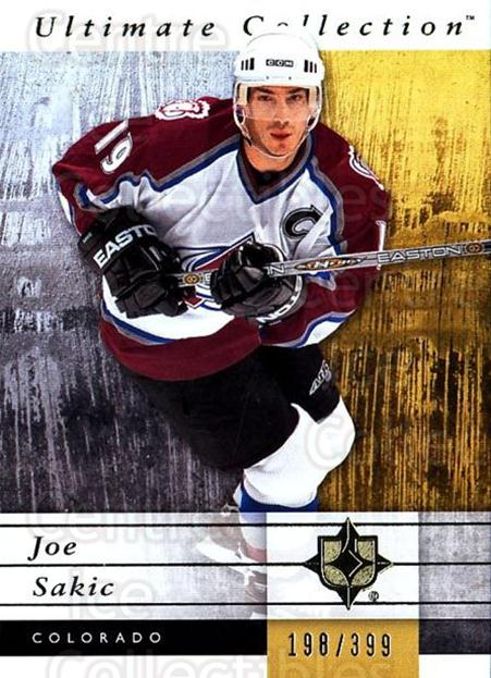 2011-12 UD Ultimate Collection #17 Joe Sakic<br/>1 In Stock - $10.00 each - <a href=https://centericecollectibles.foxycart.com/cart?name=2011-12%20UD%20Ultimate%20Collection%20%2317%20Joe%20Sakic...&quantity_max=1&price=$10.00&code=578580 class=foxycart> Buy it now! </a>