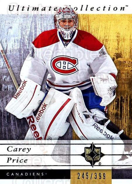 2011-12 UD Ultimate Collection #34 Carey Price<br/>1 In Stock - $10.00 each - <a href=https://centericecollectibles.foxycart.com/cart?name=2011-12%20UD%20Ultimate%20Collection%20%2334%20Carey%20Price...&price=$10.00&code=578597 class=foxycart> Buy it now! </a>