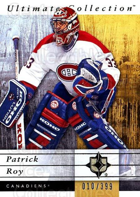 2011-12 UD Ultimate Collection #35 Patrick Roy<br/>2 In Stock - $10.00 each - <a href=https://centericecollectibles.foxycart.com/cart?name=2011-12%20UD%20Ultimate%20Collection%20%2335%20Patrick%20Roy...&quantity_max=2&price=$10.00&code=578598 class=foxycart> Buy it now! </a>
