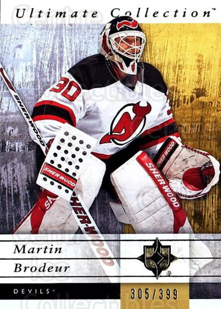 2011-12 UD Ultimate Collection #36 Martin Brodeur<br/>1 In Stock - $10.00 each - <a href=https://centericecollectibles.foxycart.com/cart?name=2011-12%20UD%20Ultimate%20Collection%20%2336%20Martin%20Brodeur...&quantity_max=1&price=$10.00&code=578599 class=foxycart> Buy it now! </a>