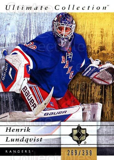 2011-12 UD Ultimate Collection #41 Henrik Lundqvist<br/>2 In Stock - $5.00 each - <a href=https://centericecollectibles.foxycart.com/cart?name=2011-12%20UD%20Ultimate%20Collection%20%2341%20Henrik%20Lundqvis...&quantity_max=2&price=$5.00&code=578604 class=foxycart> Buy it now! </a>
