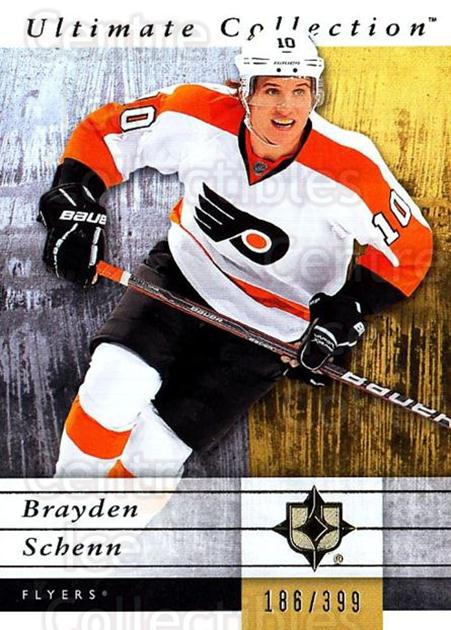 2011-12 UD Ultimate Collection #43 Brayden Schenn<br/>2 In Stock - $5.00 each - <a href=https://centericecollectibles.foxycart.com/cart?name=2011-12%20UD%20Ultimate%20Collection%20%2343%20Brayden%20Schenn...&quantity_max=2&price=$5.00&code=578606 class=foxycart> Buy it now! </a>