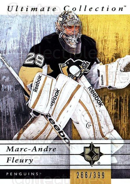 2011-12 UD Ultimate Collection #47 Marc-Andre Fleury<br/>1 In Stock - $5.00 each - <a href=https://centericecollectibles.foxycart.com/cart?name=2011-12%20UD%20Ultimate%20Collection%20%2347%20Marc-Andre%20Fleu...&quantity_max=1&price=$5.00&code=578610 class=foxycart> Buy it now! </a>