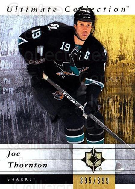 2011-12 UD Ultimate Collection #51 Joe Thornton<br/>2 In Stock - $5.00 each - <a href=https://centericecollectibles.foxycart.com/cart?name=2011-12%20UD%20Ultimate%20Collection%20%2351%20Joe%20Thornton...&quantity_max=2&price=$5.00&code=578614 class=foxycart> Buy it now! </a>