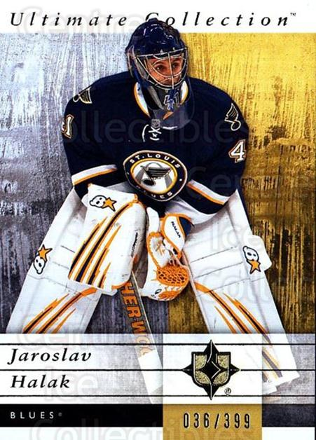 2011-12 UD Ultimate Collection #52 Jaroslav Halak<br/>2 In Stock - $5.00 each - <a href=https://centericecollectibles.foxycart.com/cart?name=2011-12%20UD%20Ultimate%20Collection%20%2352%20Jaroslav%20Halak...&quantity_max=2&price=$5.00&code=578615 class=foxycart> Buy it now! </a>
