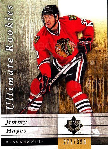 2011-12 UD Ultimate Collection #72 Jimmy Hayes<br/>1 In Stock - $5.00 each - <a href=https://centericecollectibles.foxycart.com/cart?name=2011-12%20UD%20Ultimate%20Collection%20%2372%20Jimmy%20Hayes...&quantity_max=1&price=$5.00&code=578635 class=foxycart> Buy it now! </a>