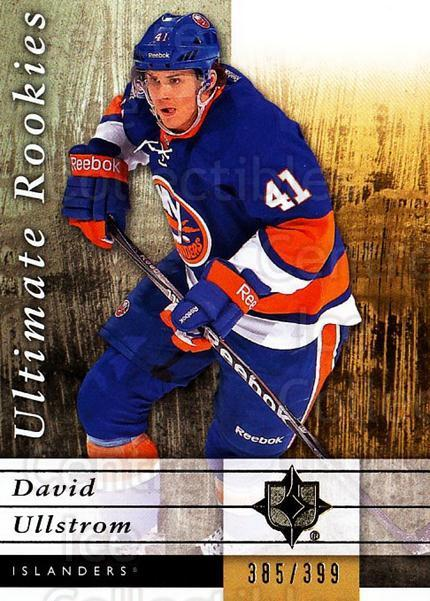2011-12 UD Ultimate Collection #86 David Ullstrom<br/>1 In Stock - $5.00 each - <a href=https://centericecollectibles.foxycart.com/cart?name=2011-12%20UD%20Ultimate%20Collection%20%2386%20David%20Ullstrom...&quantity_max=1&price=$5.00&code=578649 class=foxycart> Buy it now! </a>