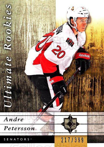 2011-12 UD Ultimate Collection #91 Andre Petersson<br/>1 In Stock - $5.00 each - <a href=https://centericecollectibles.foxycart.com/cart?name=2011-12%20UD%20Ultimate%20Collection%20%2391%20Andre%20Petersson...&quantity_max=1&price=$5.00&code=578654 class=foxycart> Buy it now! </a>