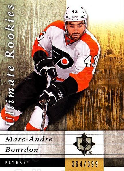 2011-12 UD Ultimate Collection #95 Marc-Andre Bourdon<br/>1 In Stock - $5.00 each - <a href=https://centericecollectibles.foxycart.com/cart?name=2011-12%20UD%20Ultimate%20Collection%20%2395%20Marc-Andre%20Bour...&quantity_max=1&price=$5.00&code=578658 class=foxycart> Buy it now! </a>