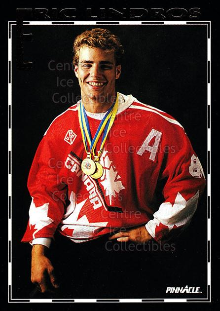 1993 Pinnacle Eric Lindros Road to the NHL #8 Eric Lindros<br/>4 In Stock - $2.00 each - <a href=https://centericecollectibles.foxycart.com/cart?name=1993%20Pinnacle%20Eric%20Lindros%20Road%20to%20the%20NHL%20%238%20Eric%20Lindros...&quantity_max=4&price=$2.00&code=578911 class=foxycart> Buy it now! </a>
