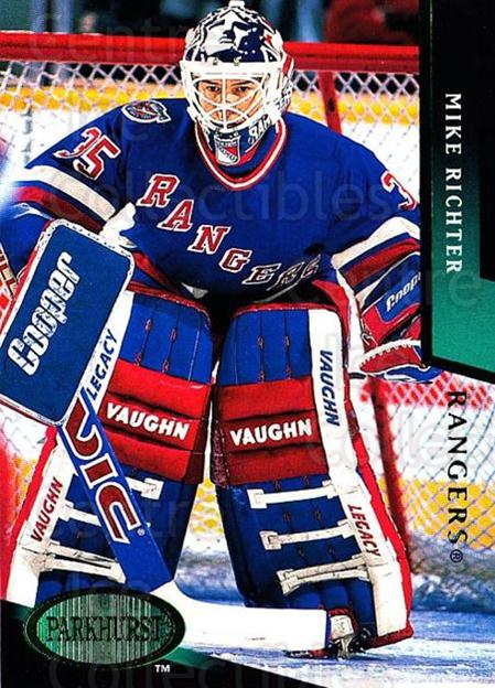 1993-94 Parkhurst Emerald #129 Mike Richter<br/>4 In Stock - $2.00 each - <a href=https://centericecollectibles.foxycart.com/cart?name=1993-94%20Parkhurst%20Emerald%20%23129%20Mike%20Richter...&quantity_max=4&price=$2.00&code=5789 class=foxycart> Buy it now! </a>