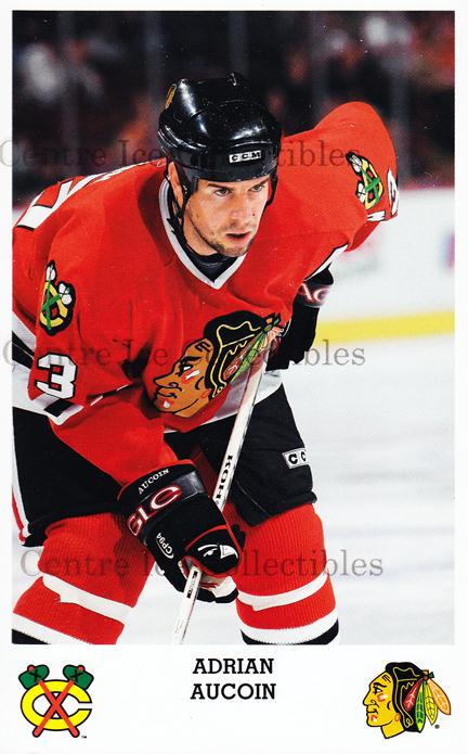2005-06 Chicago Blackhawks Postcards #2 Adrian Aucoin<br/>1 In Stock - $3.00 each - <a href=https://centericecollectibles.foxycart.com/cart?name=2005-06%20Chicago%20Blackhawks%20Postcards%20%232%20Adrian%20Aucoin...&quantity_max=1&price=$3.00&code=579131 class=foxycart> Buy it now! </a>