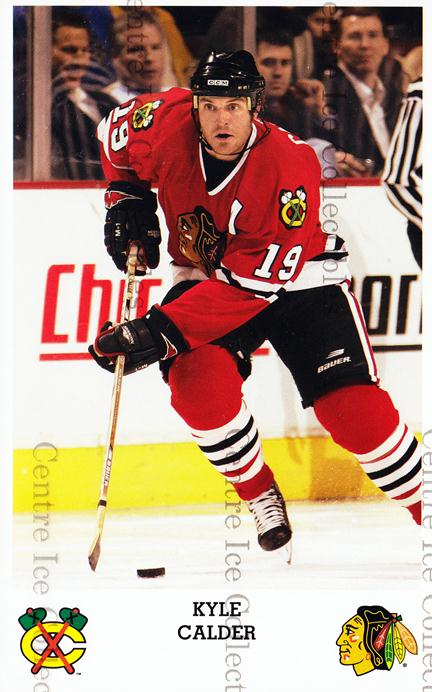 2005-06 Chicago Blackhawks Postcards #6 Kyle Calder<br/>1 In Stock - $3.00 each - <a href=https://centericecollectibles.foxycart.com/cart?name=2005-06%20Chicago%20Blackhawks%20Postcards%20%236%20Kyle%20Calder...&quantity_max=1&price=$3.00&code=579135 class=foxycart> Buy it now! </a>