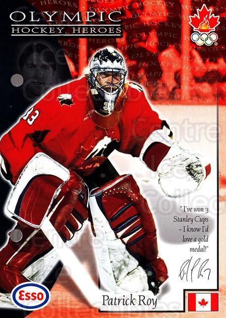 1997-98 Esso Olympic Hockey Heroes #17 Patrick Roy<br/>2 In Stock - $3.00 each - <a href=https://centericecollectibles.foxycart.com/cart?name=1997-98%20Esso%20Olympic%20Hockey%20Heroes%20%2317%20Patrick%20Roy...&price=$3.00&code=57914 class=foxycart> Buy it now! </a>