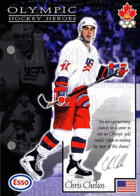 1997-98 Esso Olympic Hockey Heroes #30 Chris Chelios<br/>7 In Stock - $3.00 each - <a href=https://centericecollectibles.foxycart.com/cart?name=1997-98%20Esso%20Olympic%20Hockey%20Heroes%20%2330%20Chris%20Chelios...&quantity_max=7&price=$3.00&code=57929 class=foxycart> Buy it now! </a>
