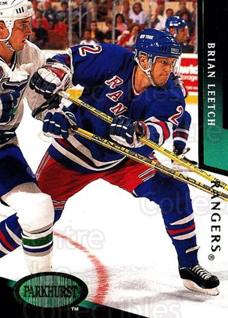 1993-94 Parkhurst Emerald #131 Brian Leetch<br/>4 In Stock - $2.00 each - <a href=https://centericecollectibles.foxycart.com/cart?name=1993-94%20Parkhurst%20Emerald%20%23131%20Brian%20Leetch...&quantity_max=4&price=$2.00&code=5792 class=foxycart> Buy it now! </a>