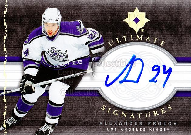 2006-07 UD Ultimate Collection Signatures #USAF Alexander Frolov<br/>1 In Stock - $5.00 each - <a href=https://centericecollectibles.foxycart.com/cart?name=2006-07%20UD%20Ultimate%20Collection%20Signatures%20%23USAF%20Alexander%20Frolo...&quantity_max=1&price=$5.00&code=579374 class=foxycart> Buy it now! </a>
